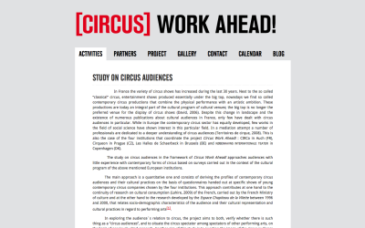 Circus Work Ahead